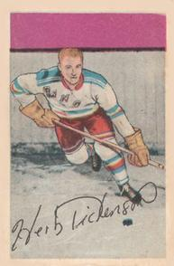 1952-53 Parkhurst #57 Herb Dickenson RC