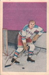 1952-53 Parkhurst #97 Jack Stoddard RC