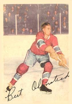 1953-54 Parkhurst #19 Bert Olmstead