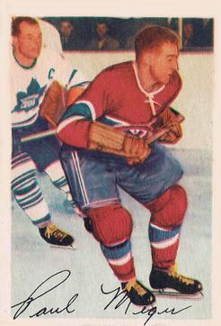 1953-54 Parkhurst #21 Paul Meger