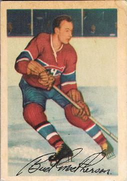 1953-54 Parkhurst #22 Bud MacPherson
