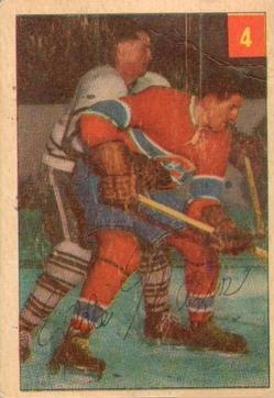 1954-55 Parkhurst #4 Eddie Mazur