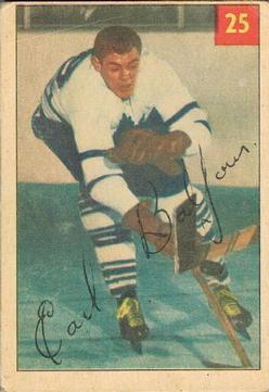 1954-55 Parkhurst #25 Earl Balfour RC