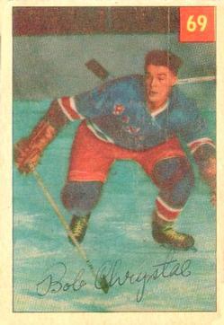 1954-55 Parkhurst #69 Bob Chrystal RC
