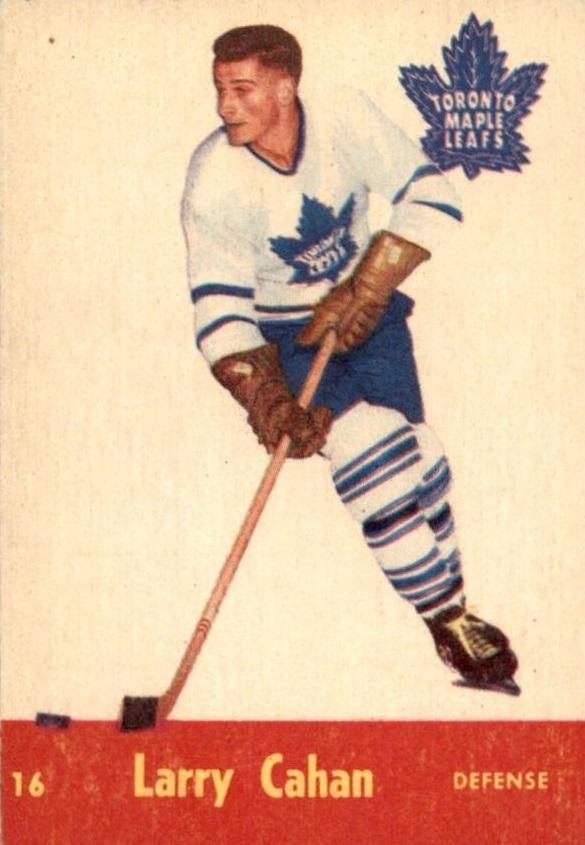 1955-56 Parkhurst #16 Larry Cahan RC