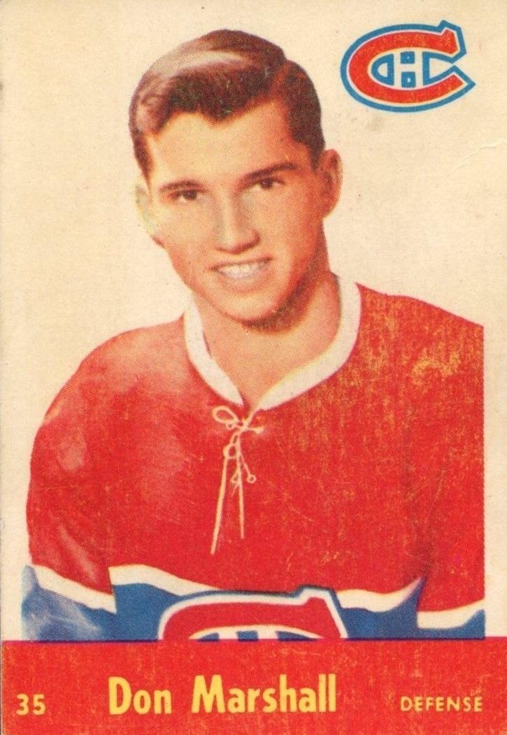 1955-56 Parkhurst #35 Don Marshall RC