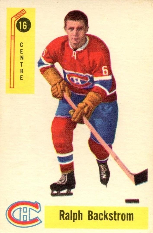 1958-59 Parkhurst #16 Ralph Backstrom RC