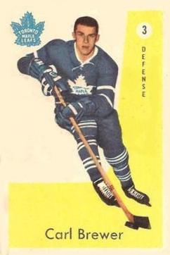1959-60 Parkhurst #3 Carl Brewer RC