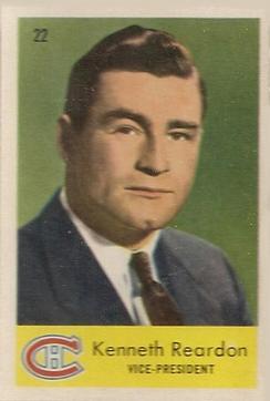 1959-60 Parkhurst #22 Ken Reardon VP