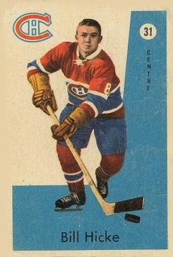 1959-60 Parkhurst #31 Bill Hicke RC