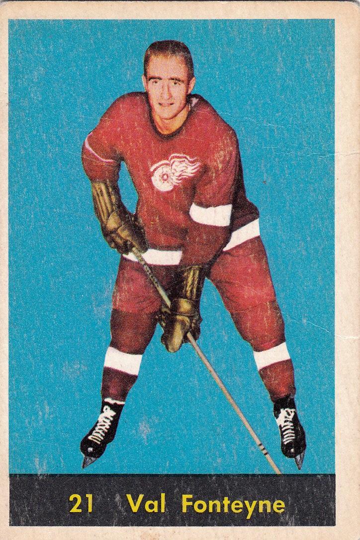 1960-61 Parkhurst #21 Val Fonteyne RC