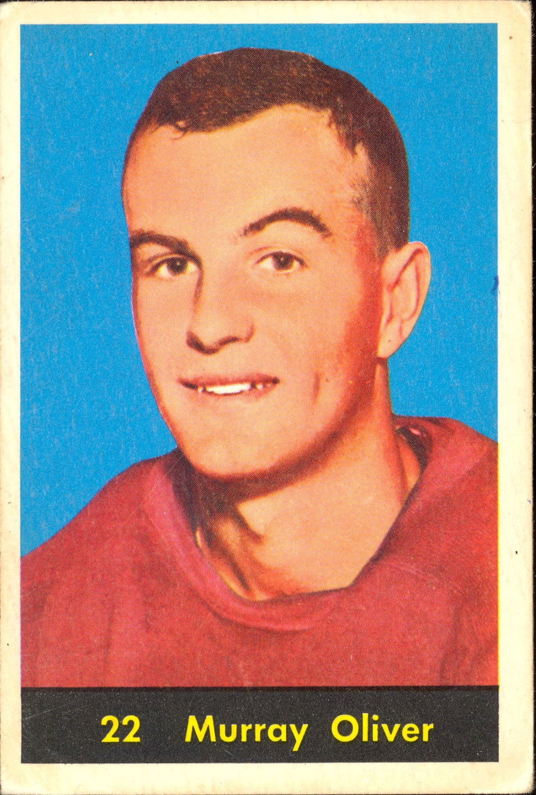 1960-61 Parkhurst #22 Murray Oliver RC