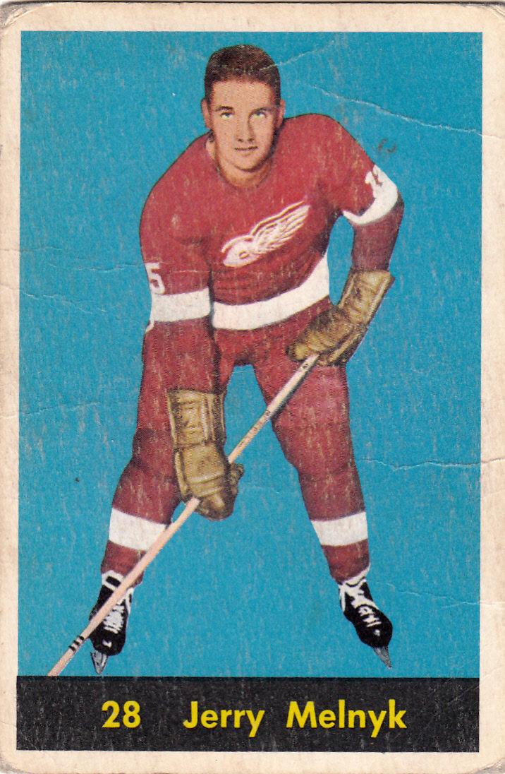 1960-61 Parkhurst #28 Gerry Melnyk UER/(Misspelled Jerry on both sides