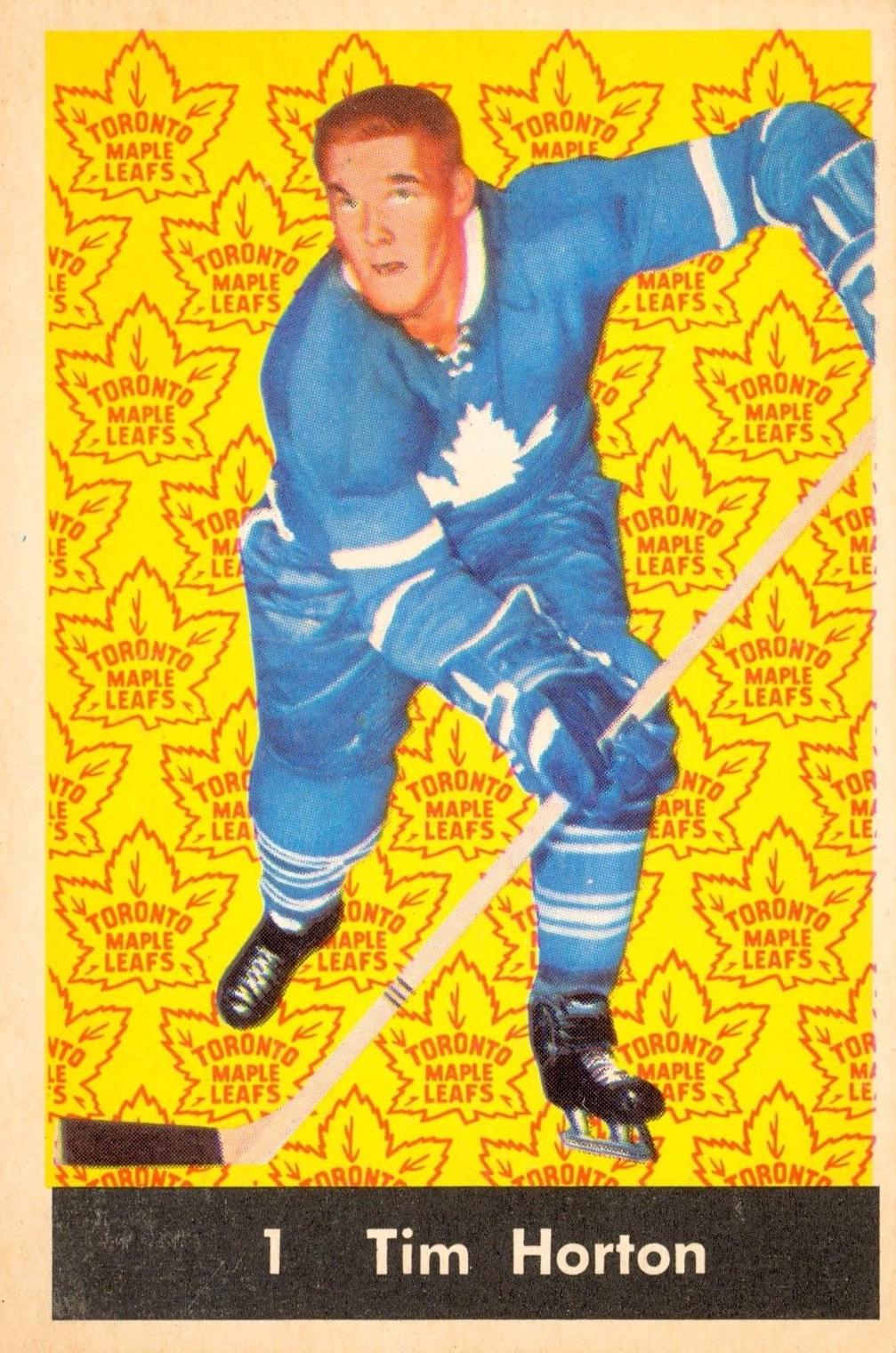 1961-62 Parkhurst #1 Tim Horton