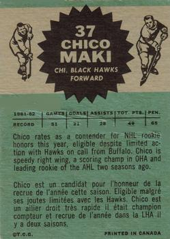 1962-63 Topps #37 Chico Maki RC back image