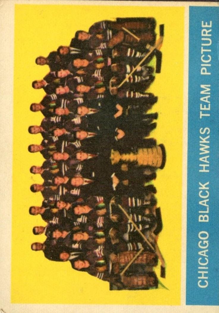 1963-64 Topps #43 Blackhawks Team