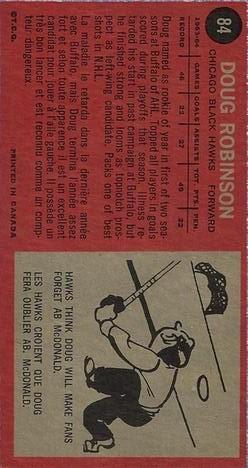 1964-65 Topps #84 Doug Robinson RC back image
