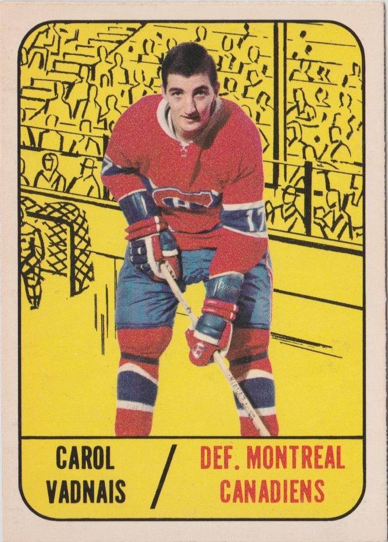 1967-68 Topps #9 Carol Vadnais RC