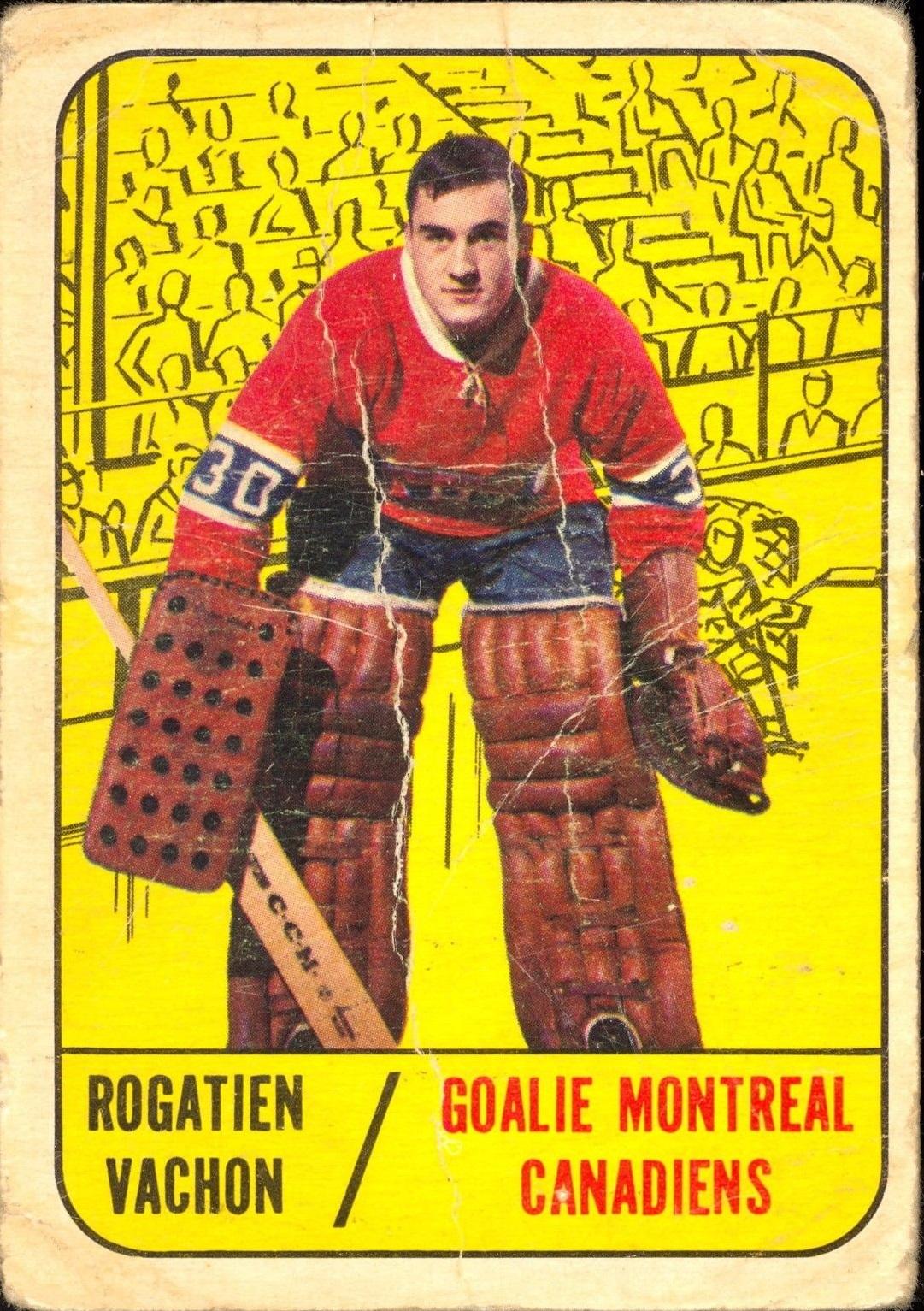 1967-68 Topps #75 Rogatien Vachon RC