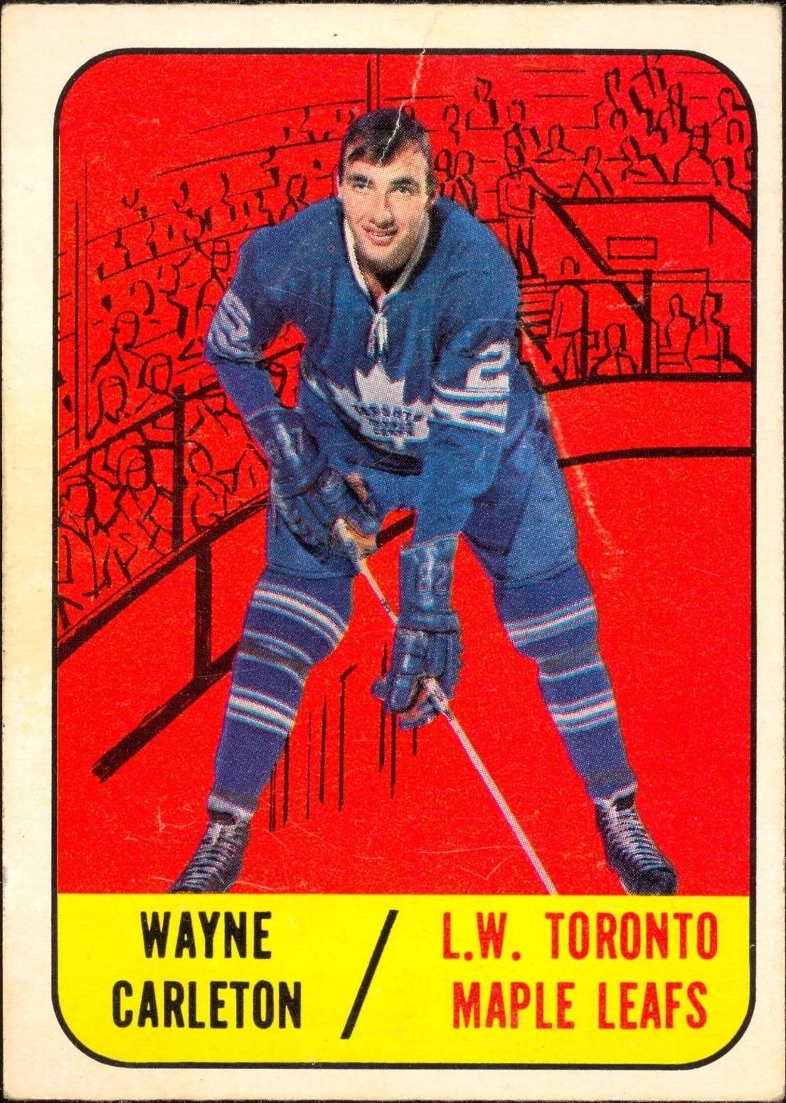 1967-68 Topps #77 Wayne Carleton RC
