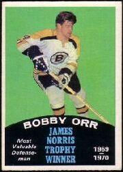 1970-71 O-Pee-Chee #248A Bobby Orr Norris/Mentions Howe on back