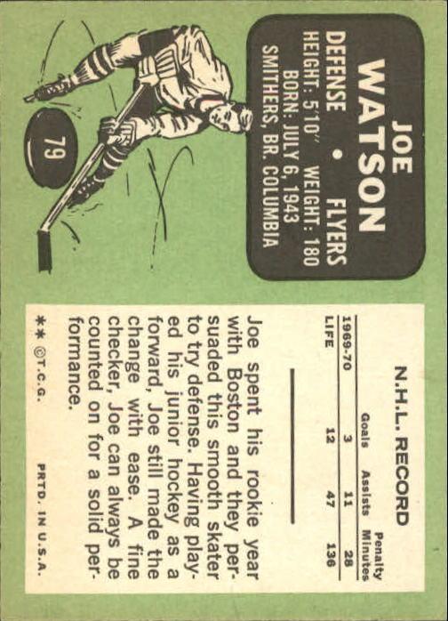 1970-71 Topps #79 Joe Watson back image