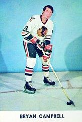 1970-71 Blackhawks Postcards #2 Bryan Campbell