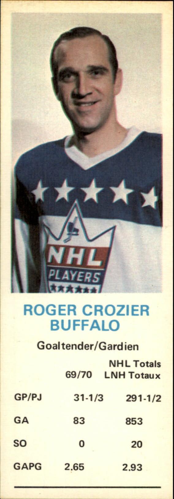 1970-71 Dad's Cookies #18 Roger Crozier
