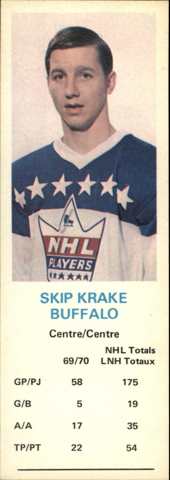 1970-71 Dad's Cookies #66 Skip Krake