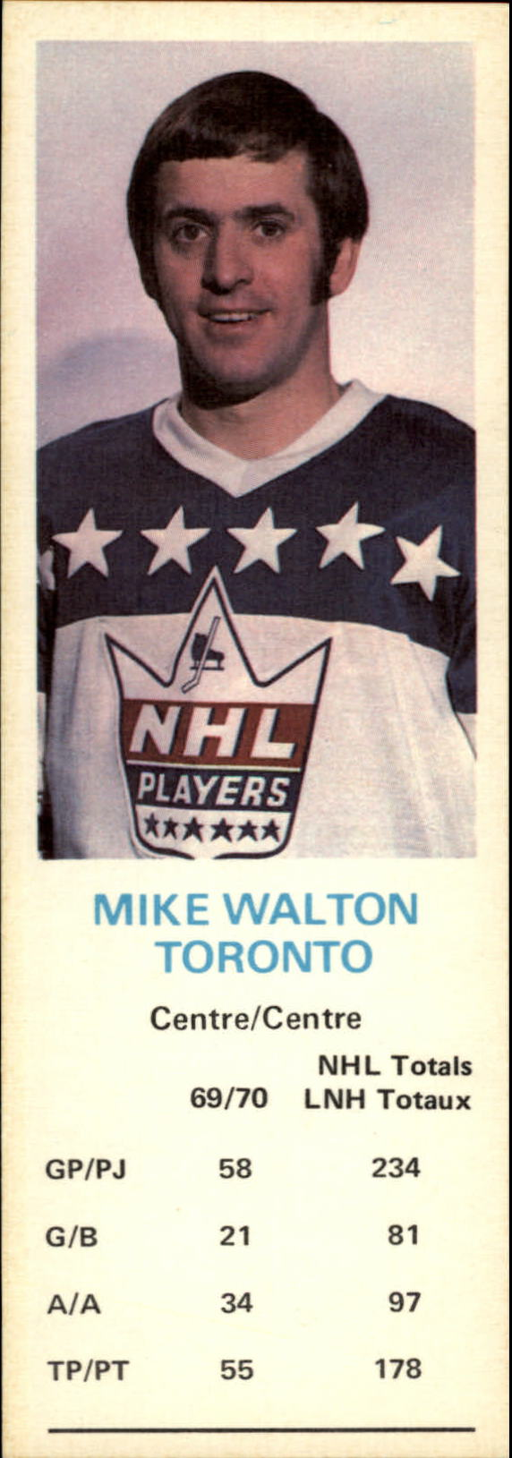 1970-71 Dad's Cookies #136 Mike Walton