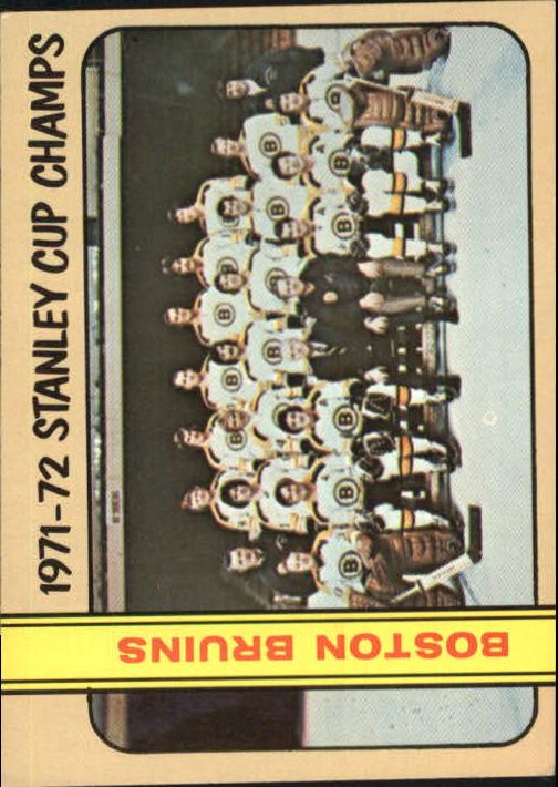 1972-73 Topps #1 World Champions DP/Boston Bruins Team