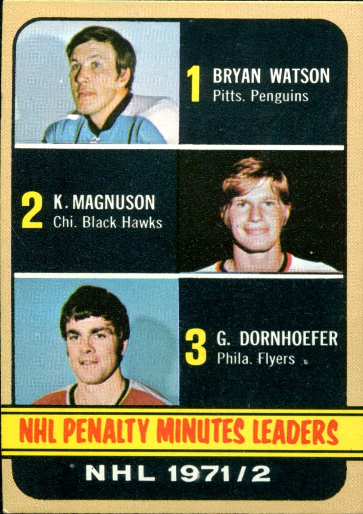 1972-73 Topps #65 Penalty Minutes/Leaders DP/Bryan Watson/Keith Magnuson/Gary Dornhoefer