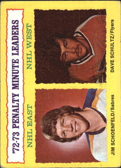 1973-74 Topps #5 Penalty Min. Leaders/Jim Schoenfeld/Dave Schultz