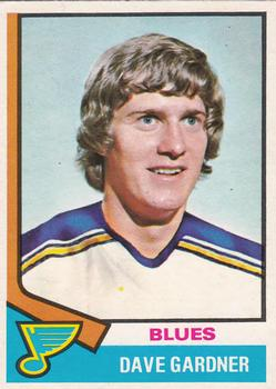 1974-75 O-Pee-Chee #47 Dave Gardner RC