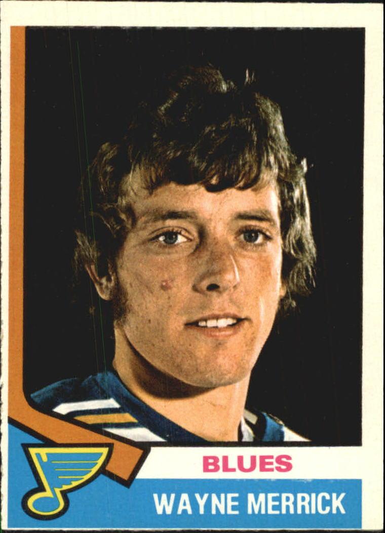 1974-75 O-Pee-Chee #66 Wayne Merrick RC