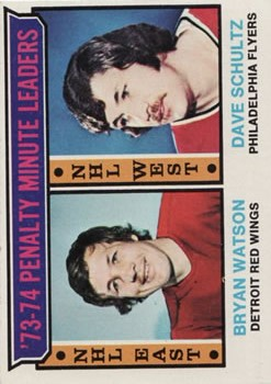 1974-75 Topps #5 Penalty Min. Leaders/Bryan Watson/Dave Schultz