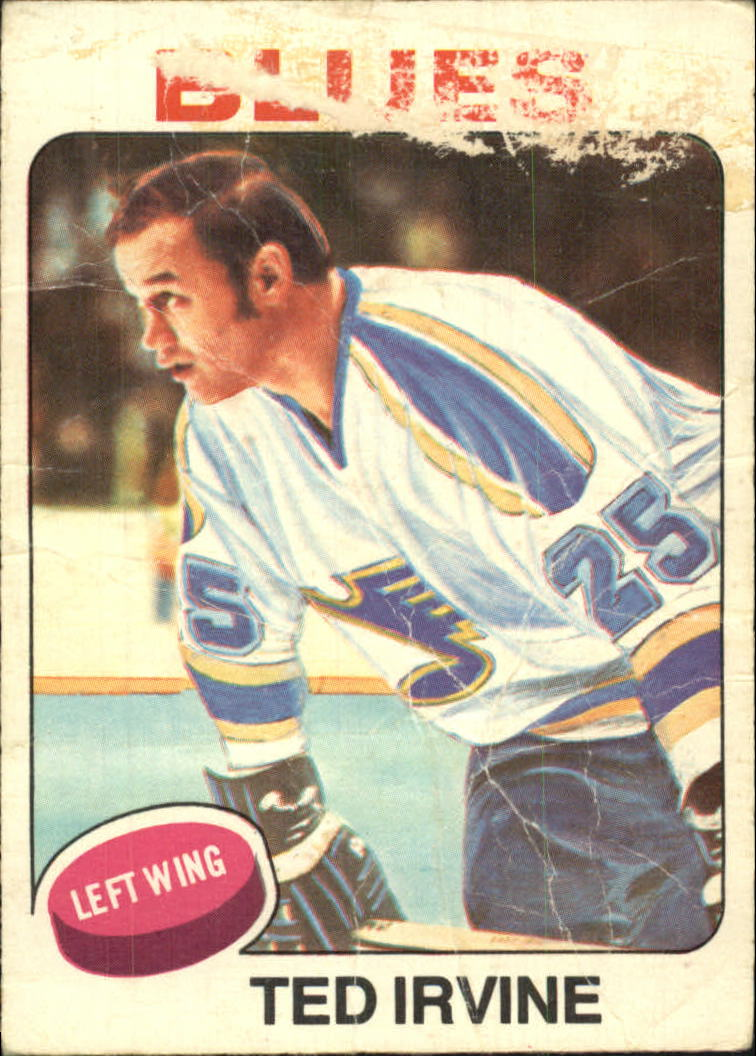 1975-76 O-Pee-Chee #244 Ted Irvine UER/(Photo actually Ted Harris)