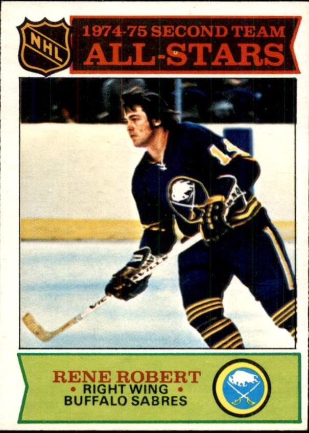 1975-76 O-Pee-Chee #296 Rene Robert AS2