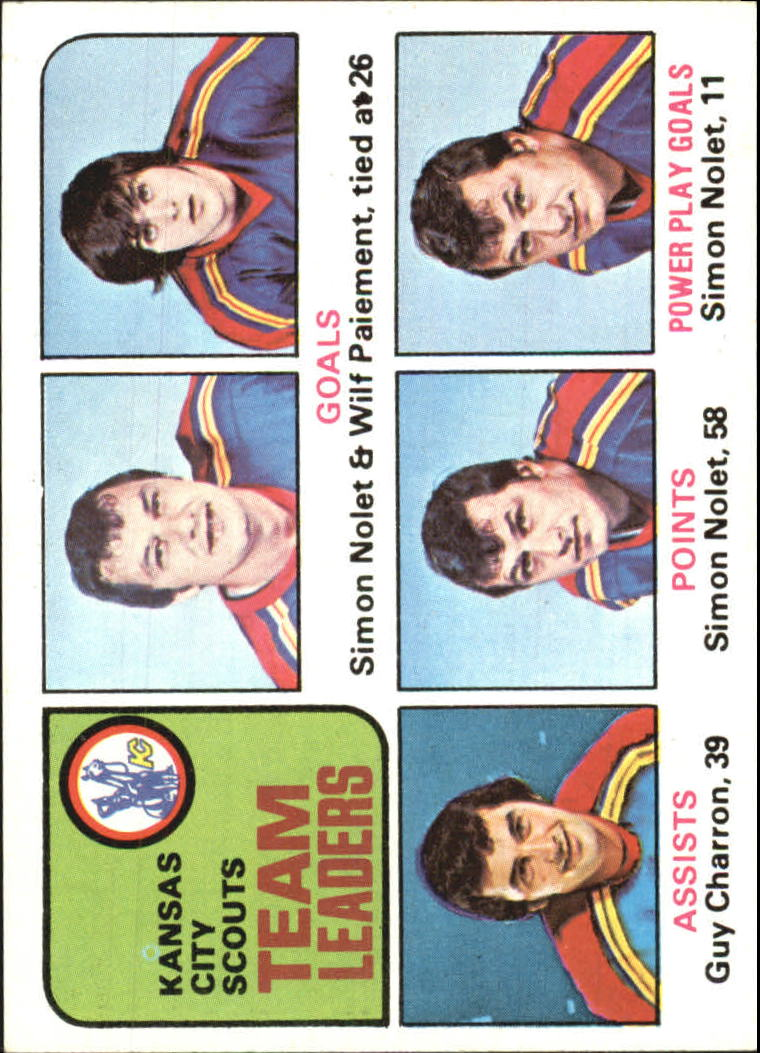 1975-76 Topps #319 Scouts Leaders/Simon Nolet/Wilf Paiement/Simon Nolet/Guy Charron/Simon Nolet