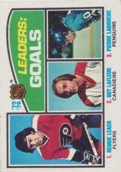 1976-77 O-Pee-Chee #1 Goals Leaders/Reggie Leach/Guy Lafleur/Pierre Larouche