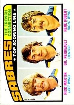 1976-77 O-Pee-Chee #214 French Connection/Richard Martin/Gilbert Perreault/Rene Robert
