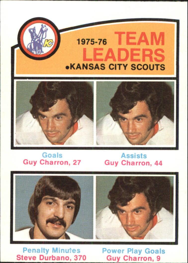 1976-77 O-Pee-Chee #384 Scouts Leaders/Guy Charron/Steve Durbano