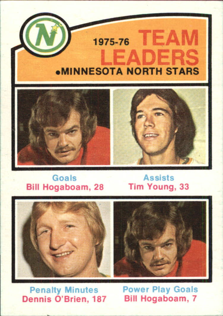 1976-77 O-Pee-Chee #387 North Stars Leaders/Bill Hogaboam/Tim Young/Dennis O'Brien