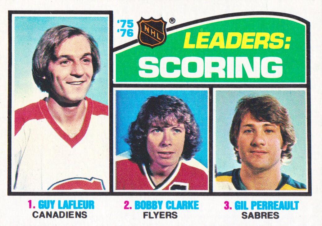 1976-77 Topps #3 Scoring Leaders/Guy Lafleur/Bobby Clarke/Gilbert Perreault