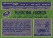 1976-77 Topps #40 Rogatien Vachon back image