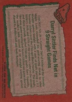 1978-79 Topps #4 Darryl Sittler HL back image