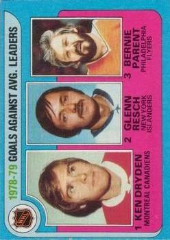 1979-80 O-Pee-Chee #6 Goals Against/Average Leaders/Ken Dryden/Glenn Resch/Bernie Parent