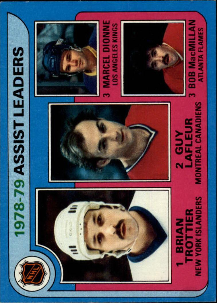 1979-80 Topps #2 Assist Leaders/Bryan Trottier/Guy Lafleur/Marcel Dionne/Bob MacMillan