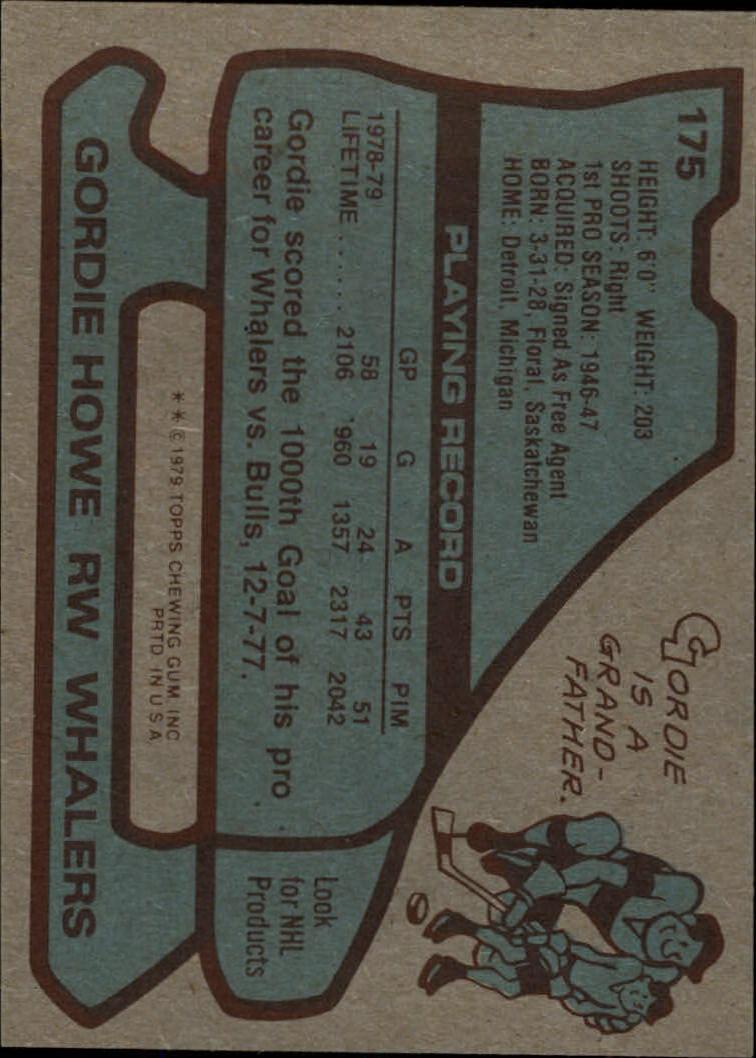 1979-80 Topps #175 Gordie Howe back image