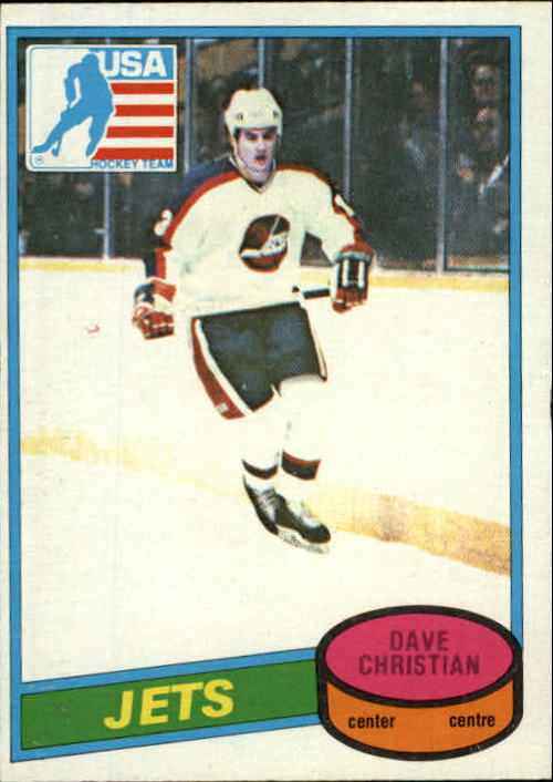 1980-81 O-Pee-Chee #176 Dave Christian OLY RC
